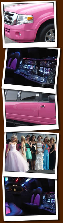 Pink Limousines For School Proms, Weddings, Birthdays And Hen Nights