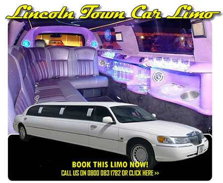 Lincoln Town Car Limousine In White