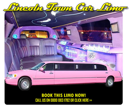 Lincoln Town Car In Pink For Hire In Rochdale For Proms And Weddings